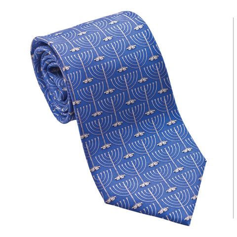 Menorah Necktie - Boys