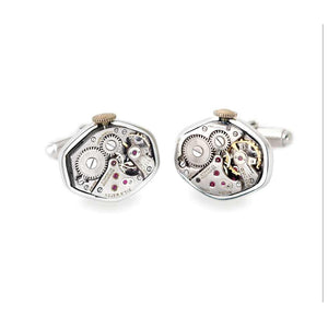 Watch Movement Sterling Cufflinks