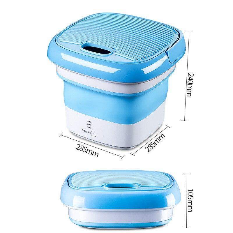 Convenient Fold Portable Sterilizing Washing Machine Mini Plug-in Underwear Special Washer Washing Tool Travel Self-driving Use - AlphaDreamstore