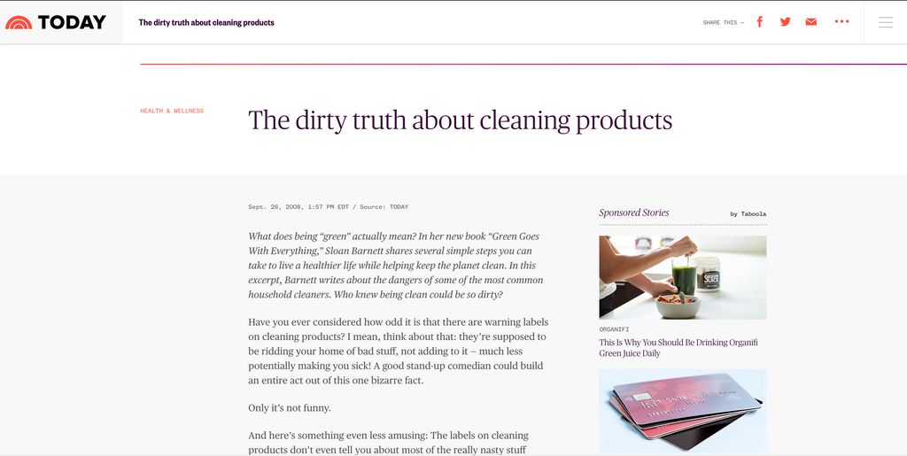 The Dirty Truth About Cleaning Products - USA Today