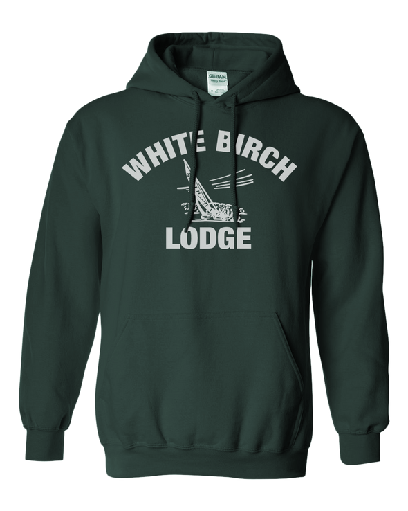 White Birch Lodge Sailboat Hooded Sweatshirt