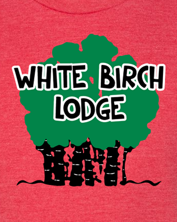 White Birch Lodge Trees logo Youth Unisex T-Shirt