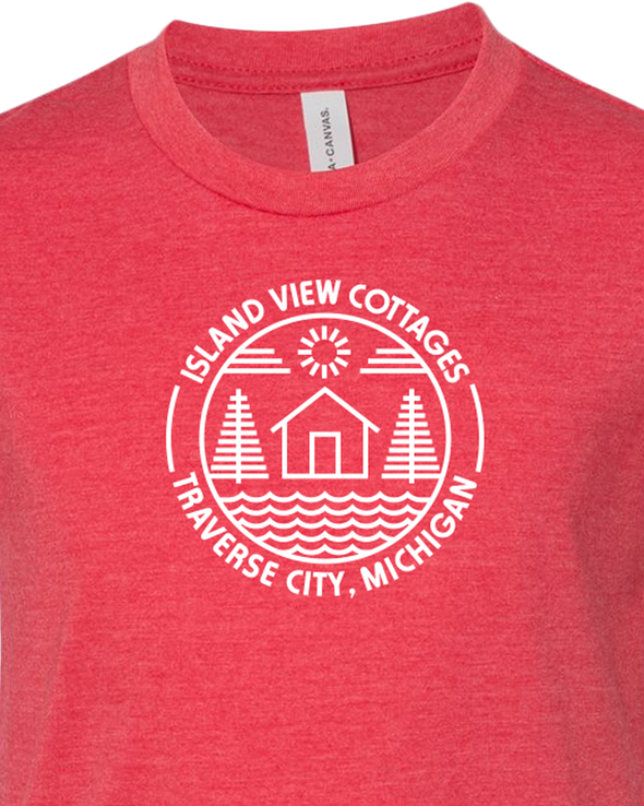 Island View Cottages White Logo Youth Unisex T-Shirt
