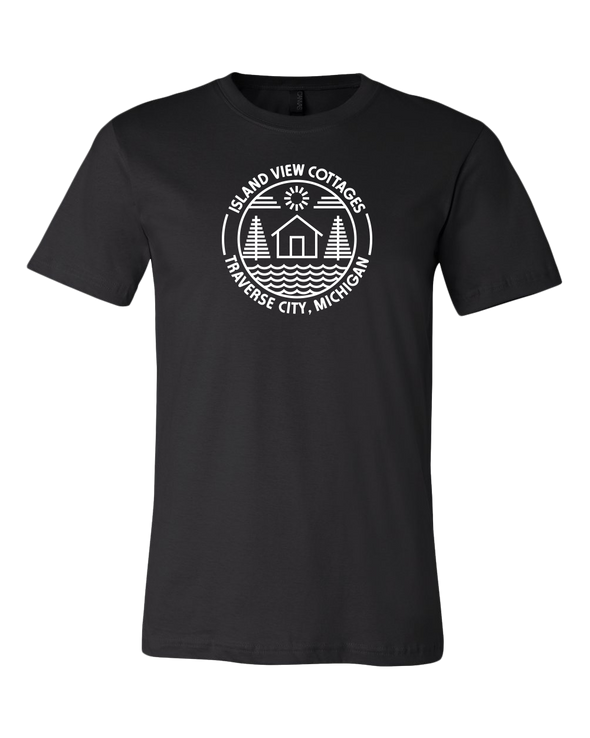 Island View Cottages White Logo Premium Unisex T-Shirt