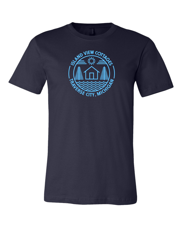 Island View Cottages Blue Logo Premium Unisex T-Shirt