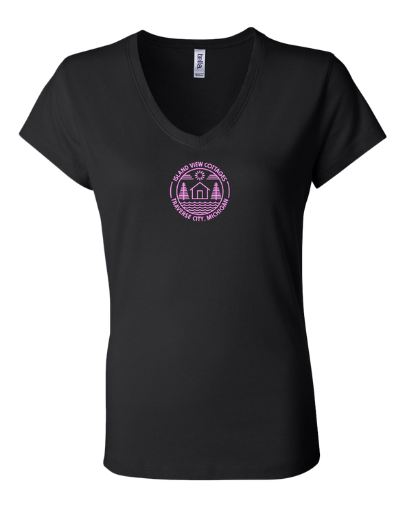 Island View Cottages Women's V-Neck T-Shirt