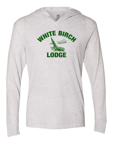 White Birch Lodge Sailboat Long Sleeve Unisex Pullover