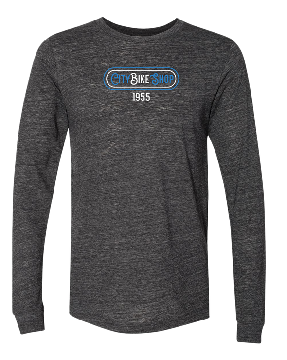 City Bike Shop Retro Long Sleeve Unisex Tee