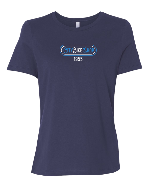 City Bike Shop Retro Women's Relaxed T-Shirt