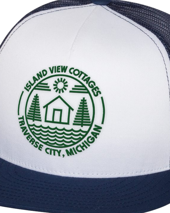 Island View Cottages Logo Embroidered on Classic Flat Bill Trucker Cap