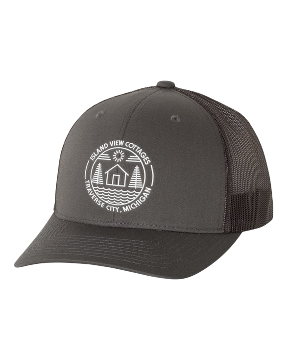 Island View Cottages Logo Embroidered on Retro Trucker Cap