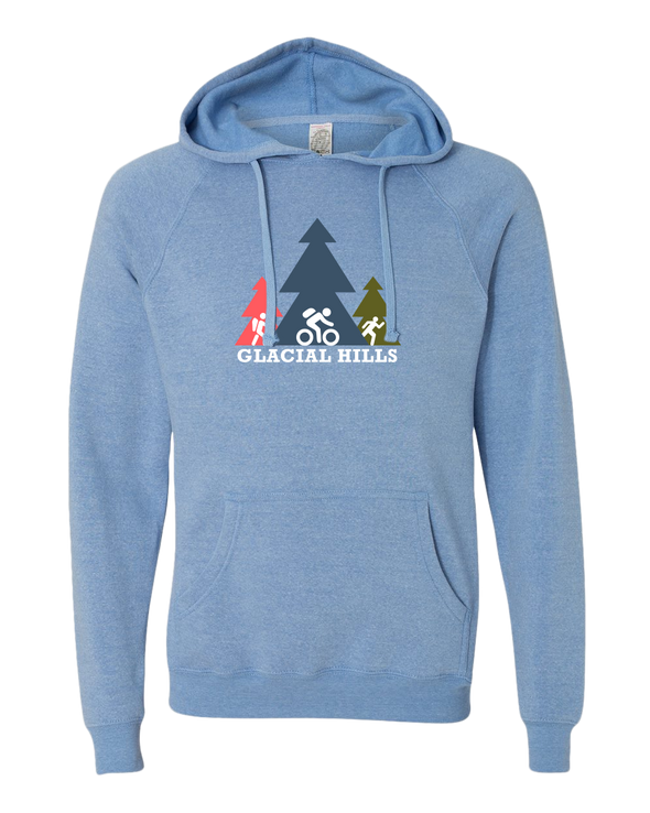 NMMBA Colorful Glacial Hills Midweight Unisex Hoodie