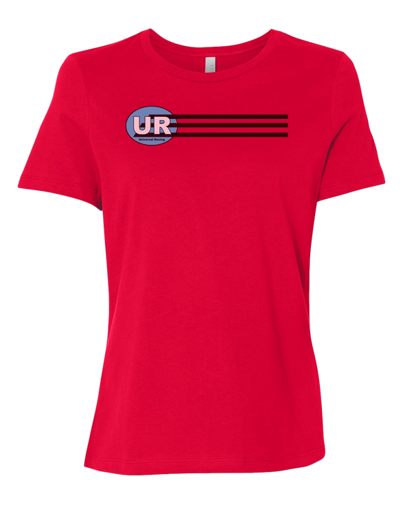 Universal Racing Team Stripes Women's Relaxed T-Shirt