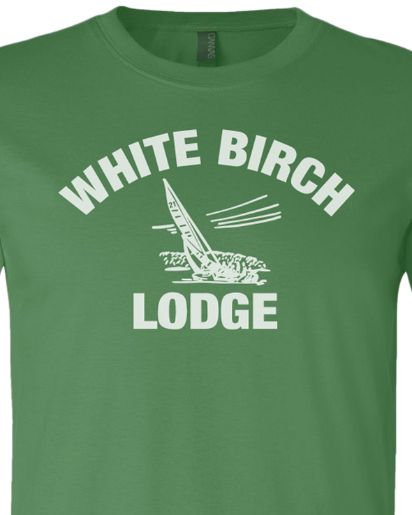 White Birch Lodge Sailboat Premium Unisex T-Shirt