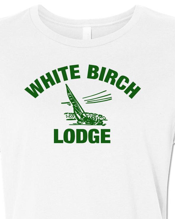 White Birch Lodge Sailboat Women's Relaxed T-Shirt