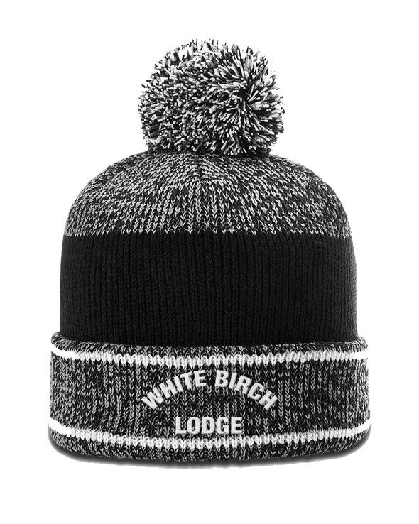 White Birch Lodge Bold Heathered Beanie With Pom