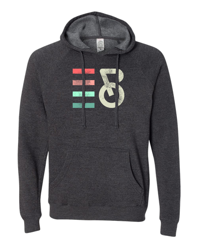 Intrepid Cycling Colorful Distressed Midweight Unisex Hoodie