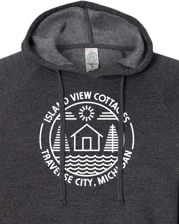 Island View Cottages White Logo Midweight Unisex Hoodie