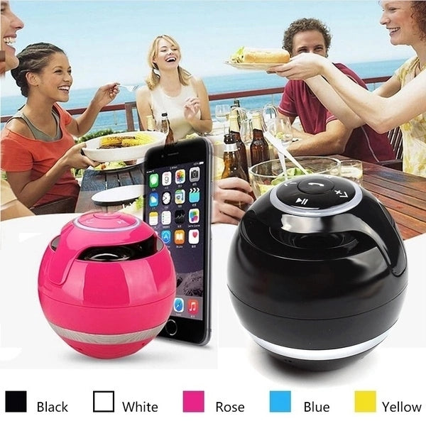 portable outdoor speaker with led ring