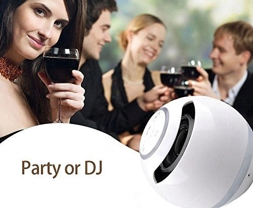portable outdoor party speaker led ring