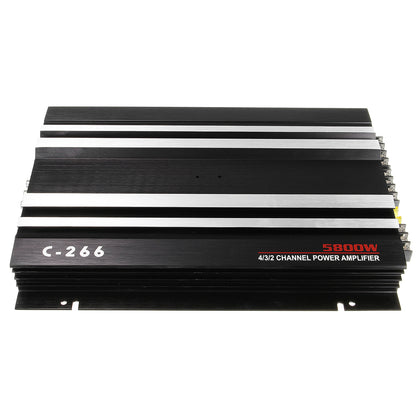 TS1 13.8V 5800W Black Sound Aluminum Alloy Audio Power Stereo 4/3/2 Channel Powerful Car Amplifier