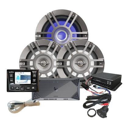 Infinity KAPPAMPK415 Package w/PRV415 Stereo, Amp, Speaker, Subwoofer, RGB Control, USB Extender  RGB Control [KAPPAMPK415]