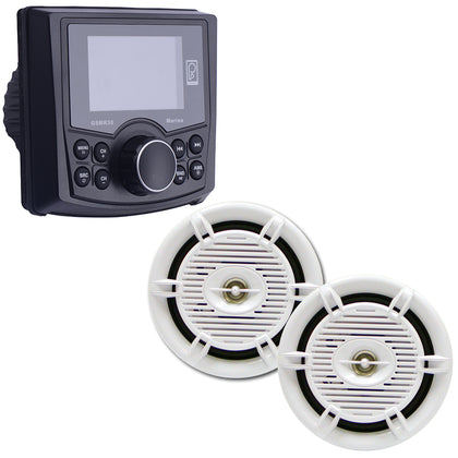 Poly-Planar GSMR30 Marine Stereo w/AM/FM/BT  Pair of Waterproof 6