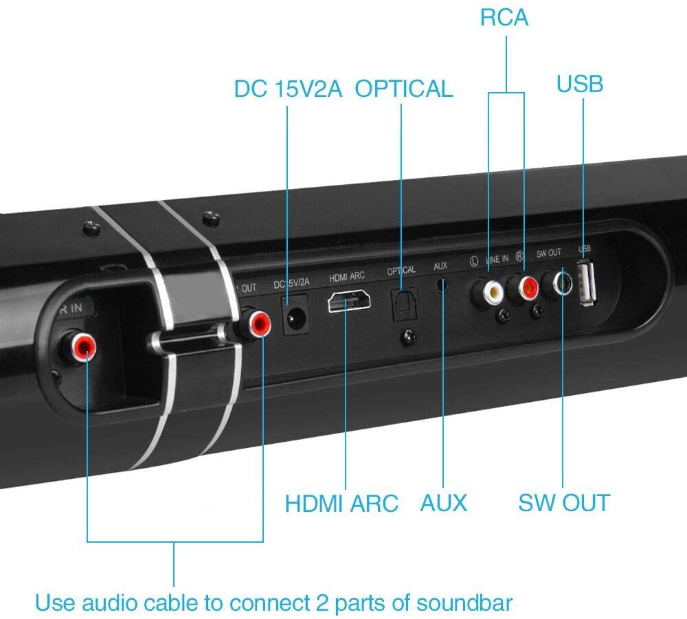 Amazing Detachable Soundbar Hi-Fi Surround Sound