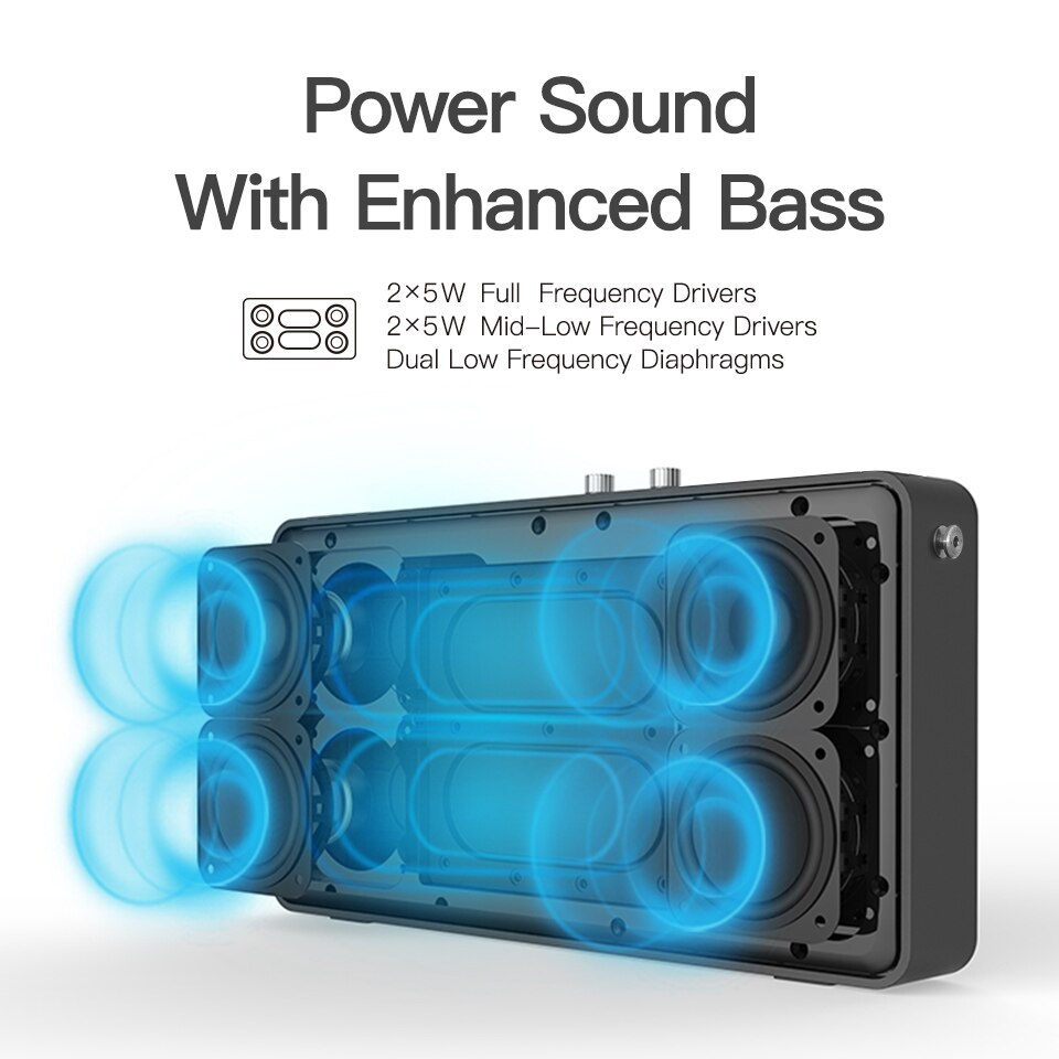 Outdoor-friendly Portable Bluetooth Speaker