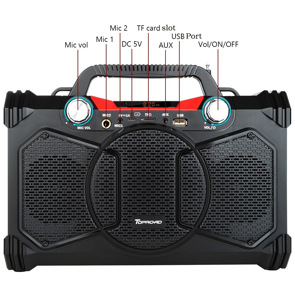30W Portable Heavy Bass Speaker Subwoofer