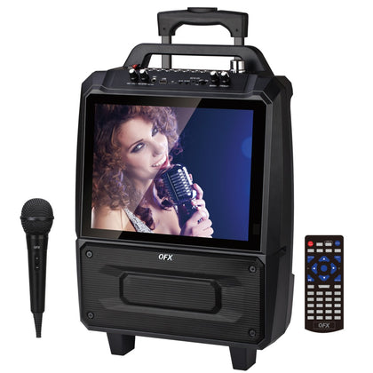 Portable Karaoke Speaker System with 14-Inch Screen