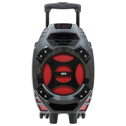 QFX PBX-61081BT-RED 8-Inch Battery-Powered Party Speaker