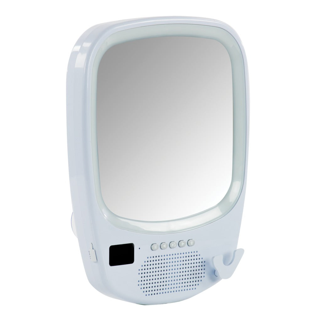 Fog-free Mirror with Bluetooth Speaker Base