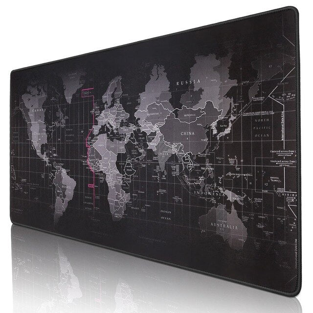 Large World Map Gaming Mouse Pad