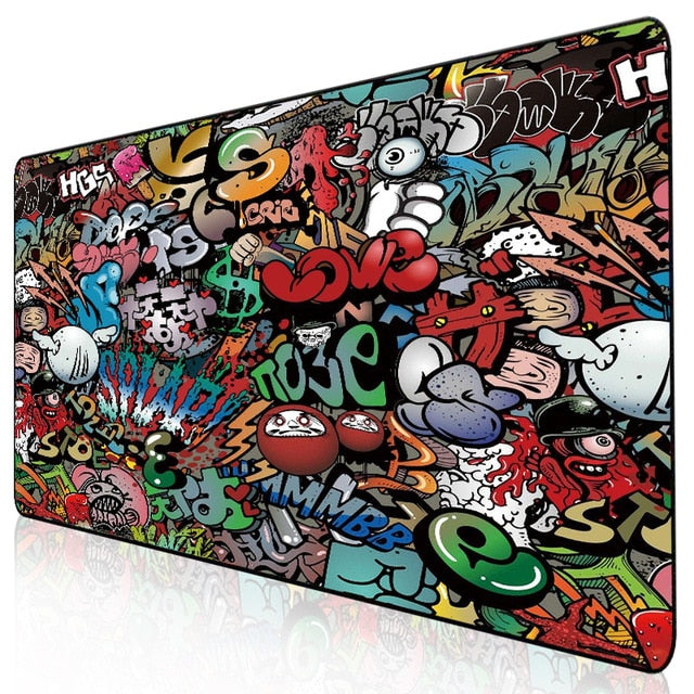 Gaming Art Printed Large Mouse Pad