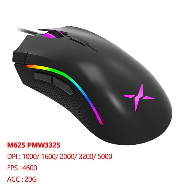 Delux M625 RGB Backlight Wired Gaming Mouse