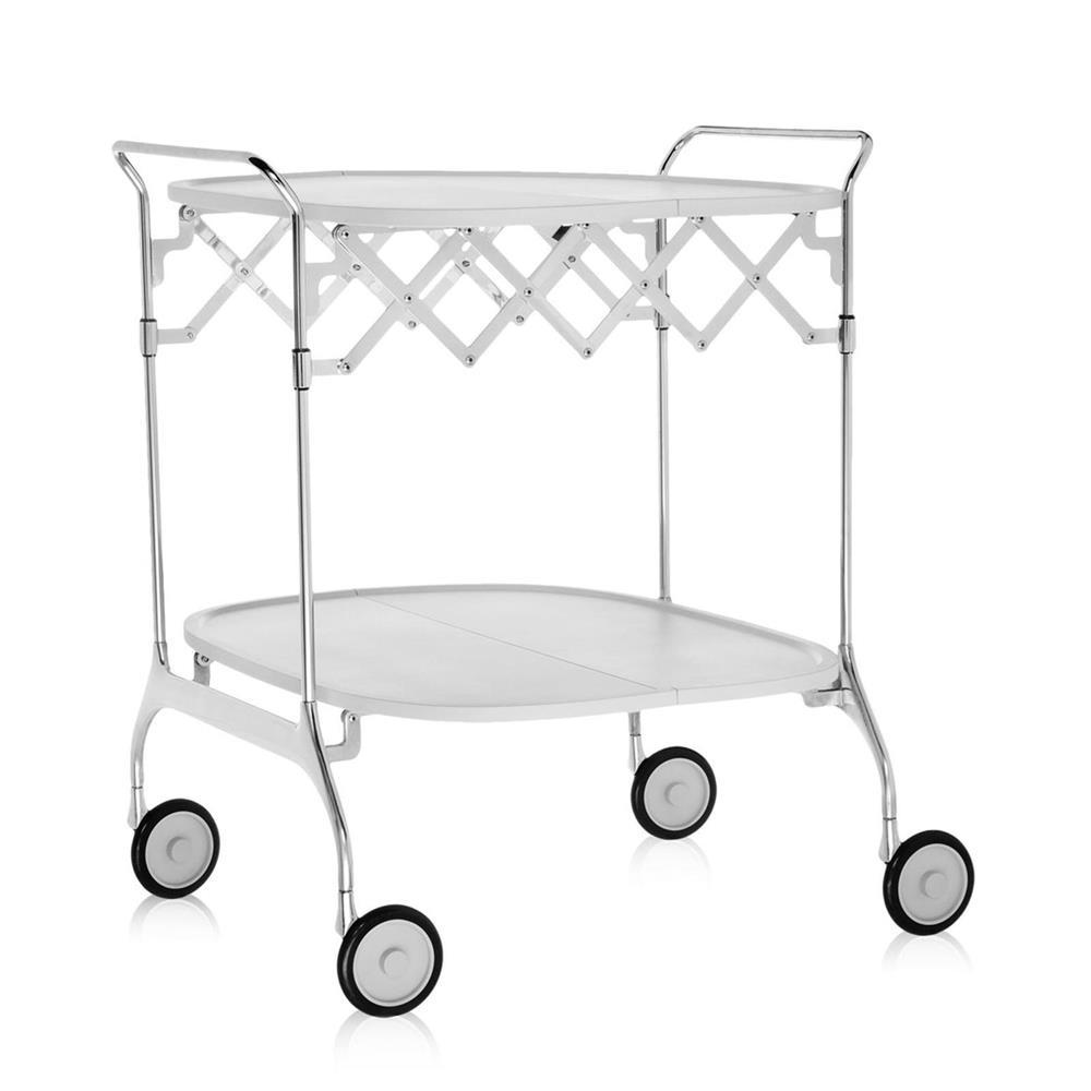 Gastone Folding Trolley - White