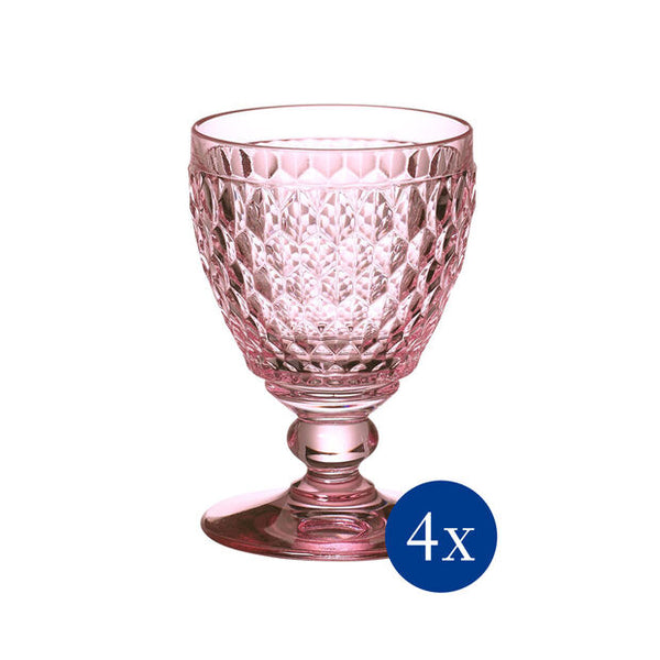 Boston Colored - Goblet Rose - Set 4