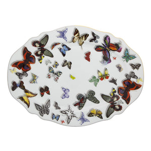 Butterfly parade - small oval platter