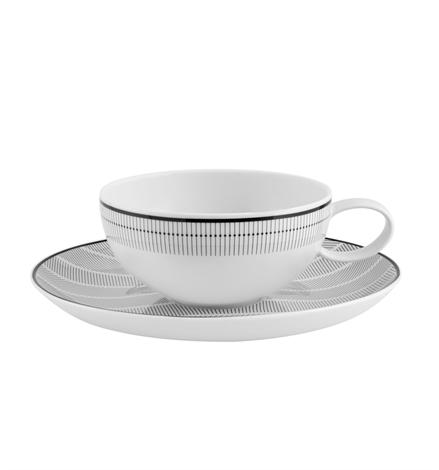 Orquestra - Tea Cup And Saucer Black