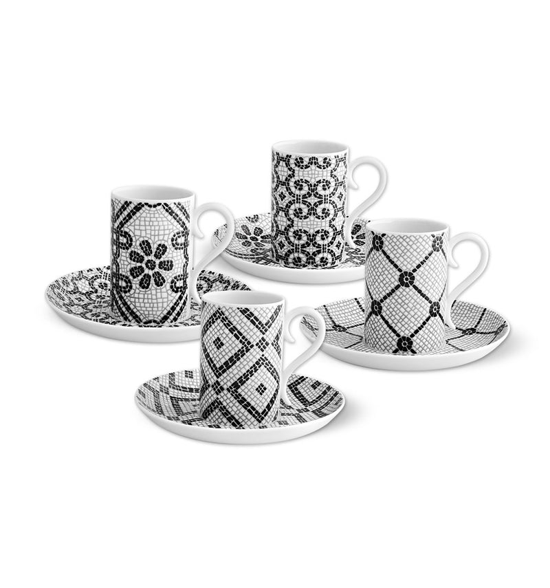 Calcada Portuguesa - Set 4 Coffee Cups & Saucers