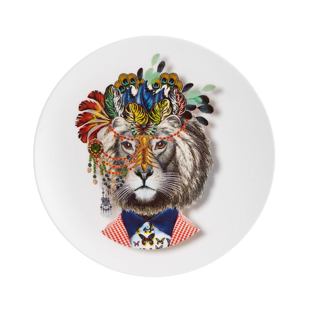Love who you are - jungle king dessert plate