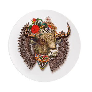 Love who you are - monseigneur bull dessert plate