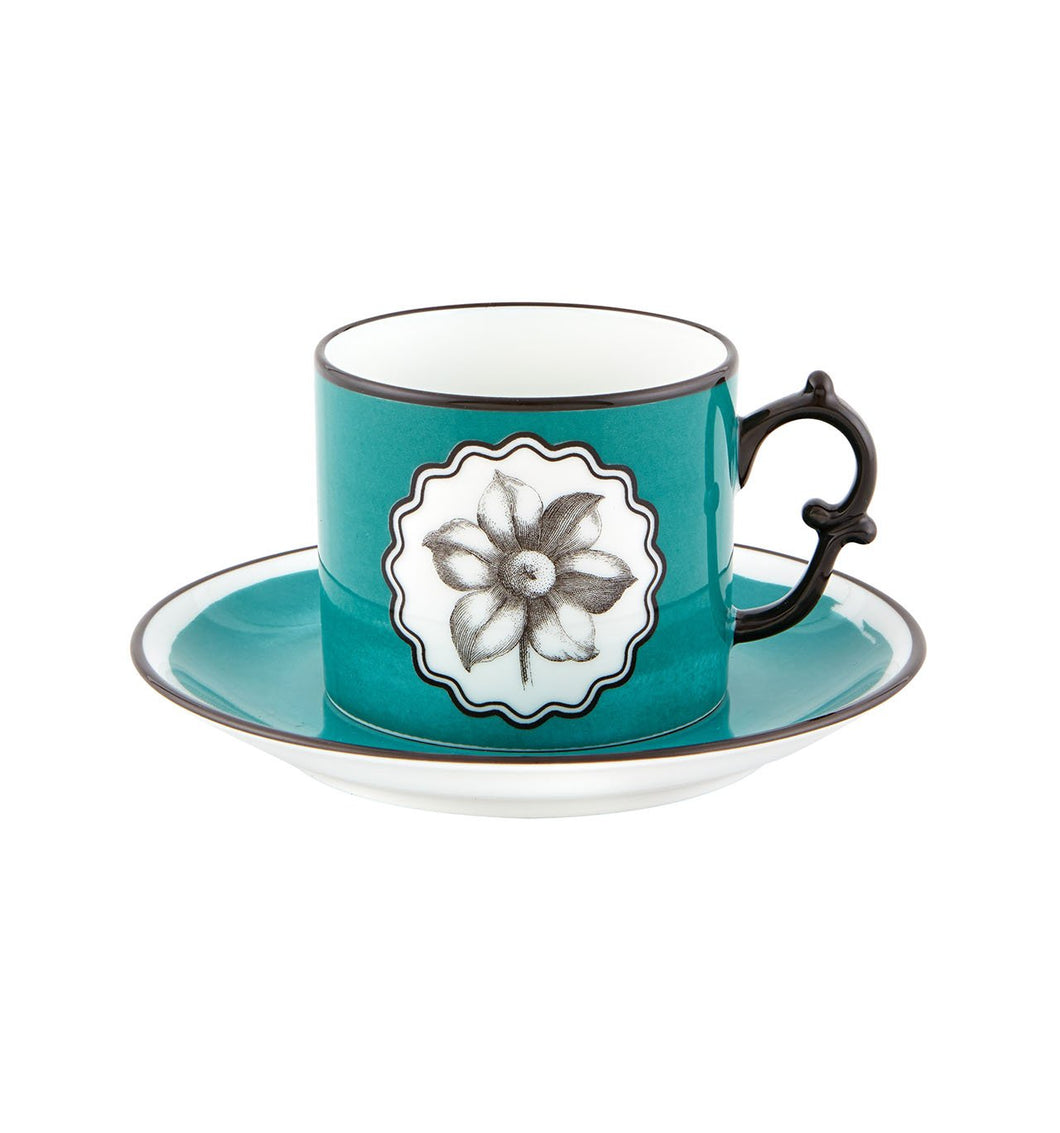 Herbariae - Tea Cup And Saucer Peacock