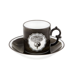 Herbariae - Coffee Cup And Saucer Black