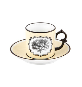 Herbariae - Coffee Cup And Saucer Yellow