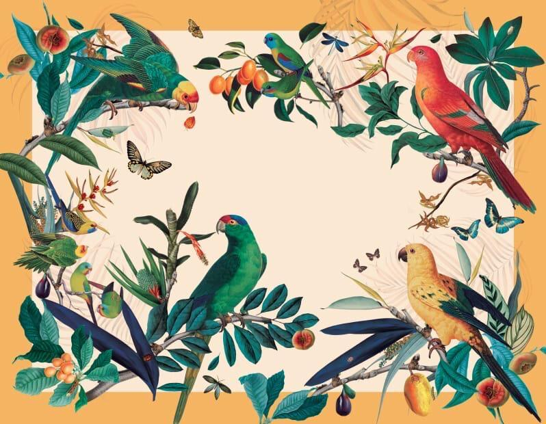 Parrots Yellow Placemat