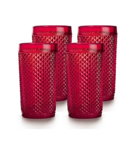 Bicos - Set Of 4 Highball Red