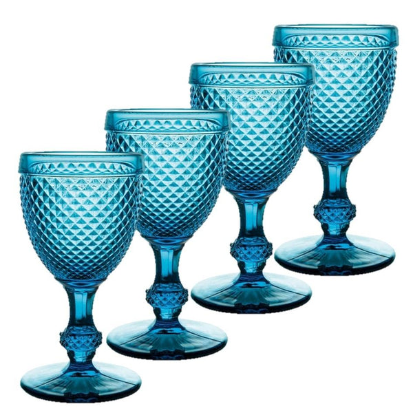 Bicos - Set Of 4 Red Wine Blue