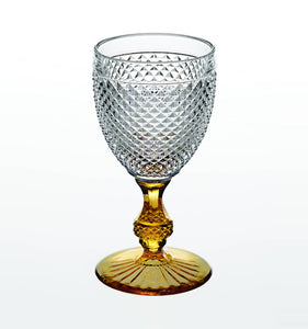 Bicos Bicolor - Goblet With Amber Stem